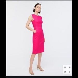 Cute fuchsia Pink sheath!! Jcrew Resume!